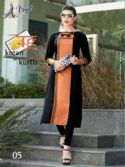 Kurti Designer Cotton Long 4 pcs set M L XL 2XL-4