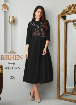 Western Outfit women 4 pcs set m l xl xxl-Black-BIRHEN