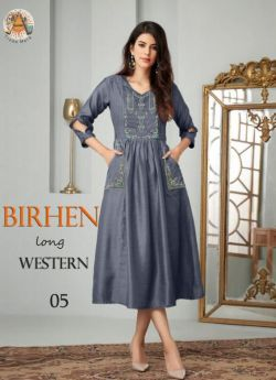 Western Outfit women 4 pcs set m l xl xxl-Gray-BIRHEN