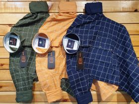COTTON CHECKS SHIRTS SEVEN11 BRANDS COMBO SET 9 PCS M L XL