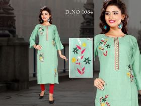 kurti embroidery 4 colour size xxl