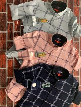 K-JOHN CALVIN TWILL PRINT CHECKS M L XL with Mask