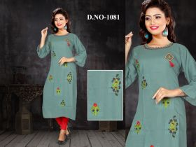 Embroidery Women Kurti verniraj-XL
