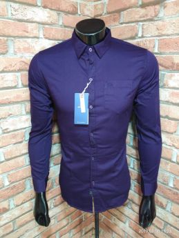 BASEII BRANDED SHIRTS TWILL SATIN 3 PCS SET M L XL -JAMUN-M L XL