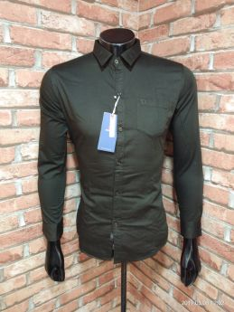 BASEII BRANDED SHIRTS TWILL SATIN 3 PCS SET M L XL -DARK OLIVE-M L XL
