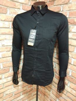 BASEII BRANDED SHIRTS TWILL SATIN 3 PCS SET M L XL -Black-M L XL