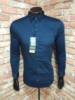 BASEII BRANDED SHIRTS TWILL SATIN 3 PCS SET M L XL -Blue-M L XL