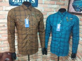 ZERIS BRANDED CHECKS SHIRT 6 PCS SET M L XL -CADBURY & L BLUE-M L XL