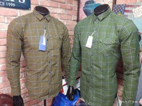 zeris cotton checks shirts