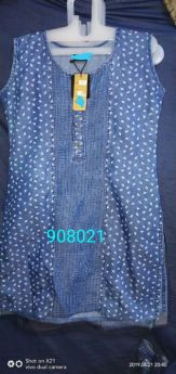 Denim kurti women m l xl xxl
