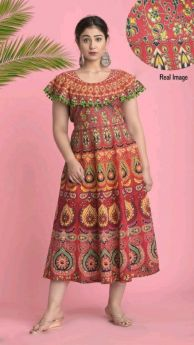 kurti long pumfum attached frock