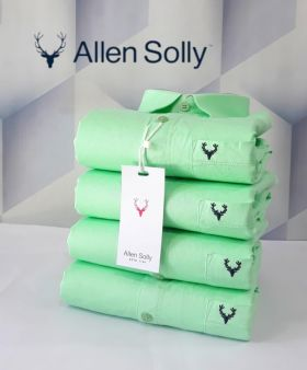 Shirts plain ALLEN SOLLY 4 PCS SET-Green-M L XL 2XL