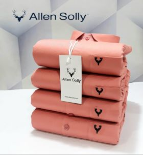 Shirts plain ALLEN SOLLY 4 PCS SET-CARROT-M L XL 2XL