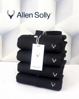 Shirts plain Allen Solly 4 pcs -Black-M L XL 2XL