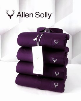 Shirts plain Allen Solly 4 pcs -Purple-M L XL 2XL