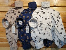 SHIRTS SEVEN11 BRAND COMBO SET 9 PCS M L XL