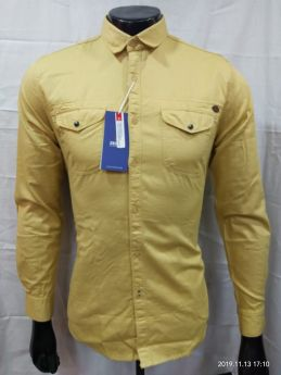 Zeris Cotton Twill Branded Shirts 3 pcs set M L XL-MANGO-M L XL