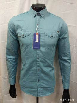 Zeris Cotton Twill Branded Shirts 3 pcs set M L XL-Green-M L XL