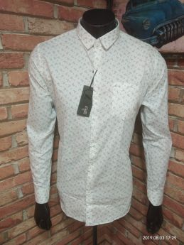 Zeris Branded Printed Shirts 3 pcs pack M L XL-White-M L XL