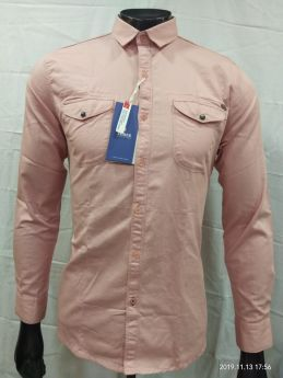 Zeris Cotton Twill Branded Shirts 3 pcs set M L XL-PEACH-M L XL